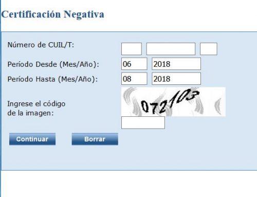 obtener certificacion negativa anses online